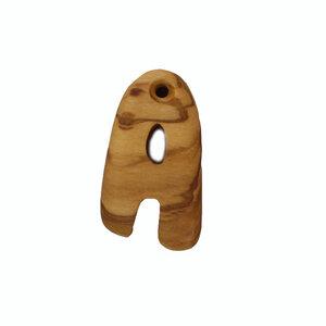 Schlüsselanhänger aus Holz Buchstaben A-Z | Holz Anhänger - Mitienda Shop