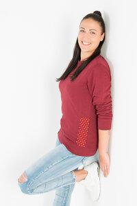Shwe Shwe Pattern Unisex Sweater - Burgundy - Maishameanslife
