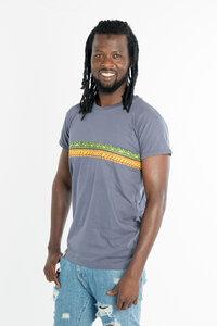 Kudhinda Stripe - Männer T-shirt - Charcoal Grau - Maishameanslife