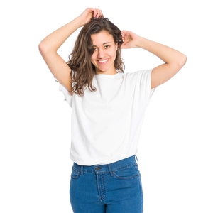 T-Shirt Kapok Damen Weiß - bleed