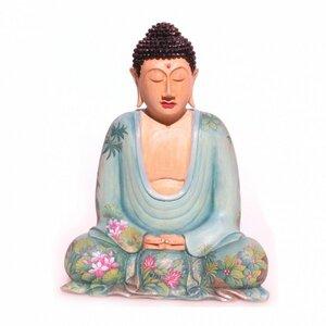 Holzbuddha mit Krishna  - Just Be