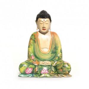 Holzbuddha mit Naturmotiven  - Just Be