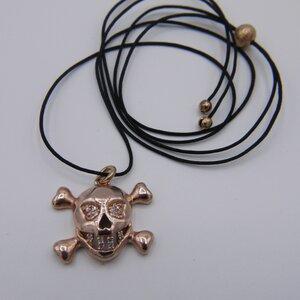 "Unikat: Fadenkettchen mit Vintage Anhänger ""Skull"", Roségold - MishMish by WearPositive"