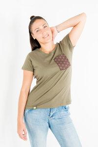 Shwe Shwe Pocket - Frauen T-shirt - Khaki - Maishameanslife