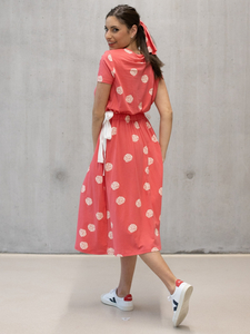 Eukalyptus Kleid Elisabetta mit Allover print - CORA happywear