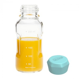 Trinkflasche Blue Ocean aus Glas 250 ml - Trendglas Jena