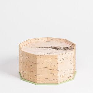 Brotdose / Brotkasten aus Birkenrinde klein mit Schneidebrett - 23 x 23 x 13cm / handgefertigt in Sibirien - MOYA Birch Bark