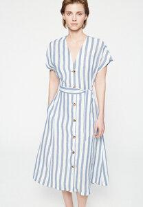 SAALIKA BLOCK STRIPE - Damen Kleid aus Bio-Leinen - ARMEDANGELS