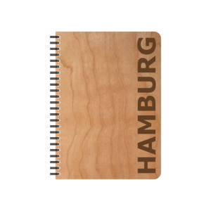 Schreibblock Hamburg - echtholz