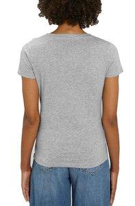 Damen Bio T-Shirt mit V Ausschnitt. Basic V Neck Shirt Baumwolle (Bio) - YTWOO