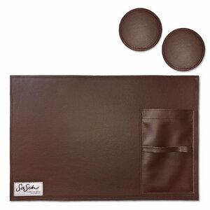 Hochwertiges Tischset mit 2 Untersetzern - SaSch belt & bags