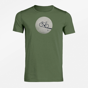 T-Shirt Adores Slub Bike Moon - GreenBomb