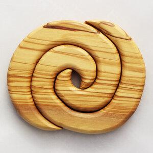 Topfuntersetzer aus Holz 2-teilig | Spiralform rund - Mitienda Shop
