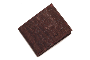 Portemonnaie Korkleder mit RFID Schutz, Geldbeutel Männer mit Münzfach - Simaru