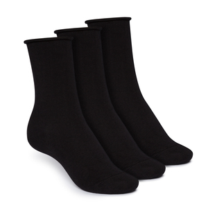 Socken Relax Mittelhoch Schwarz 3er Pack Bio Fair - ThokkThokk
