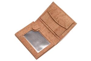 Kork Geldbörse Herren Premium mit vielen Sichtfenstern und RFID Schutz - Simaru