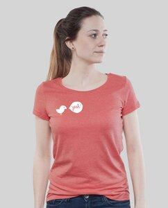 """Lowcut Shirt Women Coral """"Birdy Yeah"""" - SILBERFISCHER"""