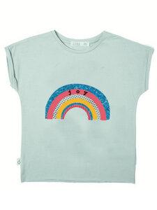 Eukalyptus T-Shirt Laura mit Regenbogen - CORA happywear