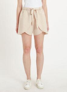 Shorts aus Leinen-Mix mit Bindegürtel - ORGANICATION