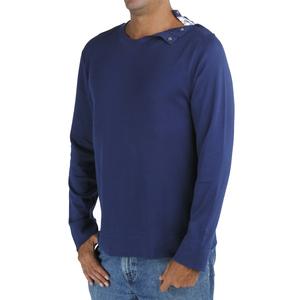 Langarm-T Shirt mit Rundhalsausschnitt - Biologischer Pima Baumwolle - B.e Quality