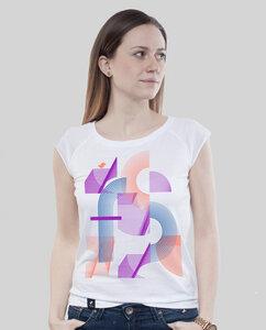 """Bamboo Raglan Shirt Women White """"Abstrakt"""" - SILBERFISCHER"""