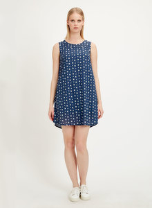 Kleid aus Tencel mit Allover-Print - ORGANICATION