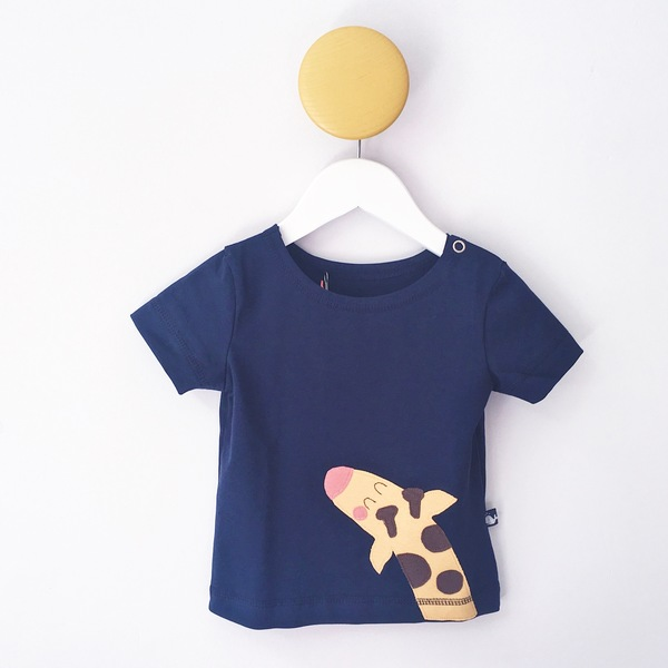Baby T-shirt Mit Applikation Giraffe