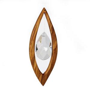 Fensterschmuck aus Holz | Segel mit Bleikristall - Mitienda Shop