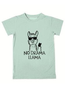 Eukalyptus T-Shirt Ben mit Lama - CORA happywear