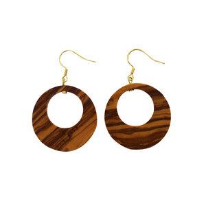Ohrringe aus Holz | Ohrschmuck flach - Mitienda Shop