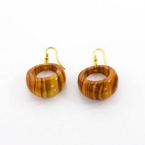 Ohrringe aus Holz | Ohrschmuck breit - Mitienda Shop