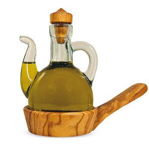 Ölkännchen mit Untersetzer aus Holz - Mitienda Shop