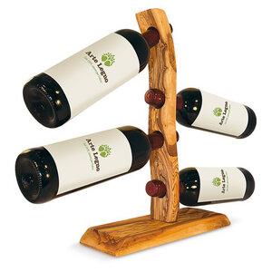Weinflaschenhalter aus Holz 'Michelangelo | Für 4 Flaschen - Mitienda Shop