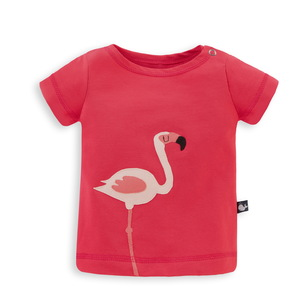 Baby T-Shirt mit Applikation Flamingo - internaht