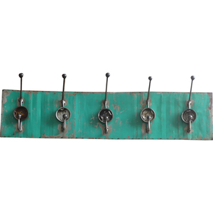Wandgarderobe 5fach aus Ölfass - Upcycling Deluxe