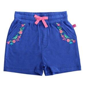 Mädchen Shorts navy Blumen Stickerei GOTS - Enfant Terrible