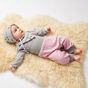 """Babypumphose """"Zephyr-Weiß-Ringel"""""""" aus 95% Baumwolle und 5% Elasthan - Cheeky Apple"""