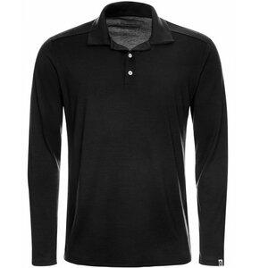 Herren Merino Polo-Shirt Langarm Regularfit 200 - Kaipara - Merino Sportswear