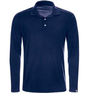 Merino Polo-Shirt Langarm Regularfit 200 Herren - Kaipara - Merino Sportswear