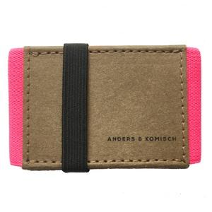 Kleines Portemonnaie mit Münzfach A&K MINI braun - ANDERS & KOMISCH