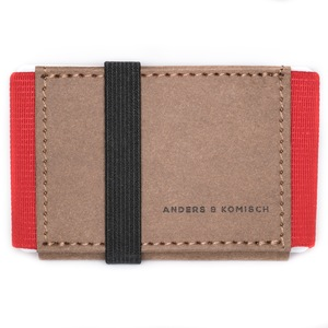Kleines Portemonnaie A&K MINI braun - ANDERS & KOMISCH