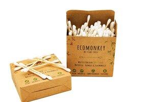 ECOMONKEY® Bambus Wattestäbchen | Nachhaltig & Plastikfrei - ECOMONKEY