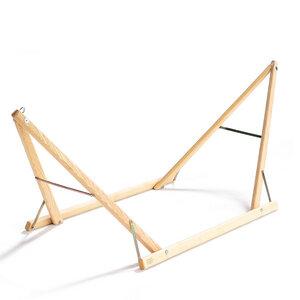 Kinderhängemattengestell aus Eschenholz bis zu 40 kg 180x55x88 cm - 4betterdays