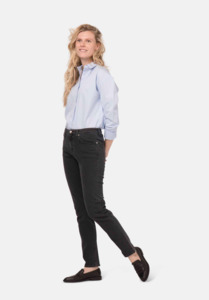 Mud Jeans Stretch Mimi / Stone Black - Mud Jeans
