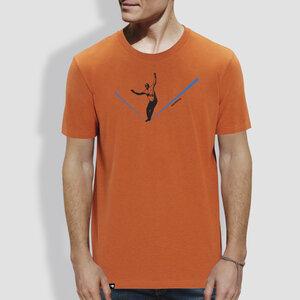 """Herren T-Shirt, """"Balance"""", Orange - little kiwi"""