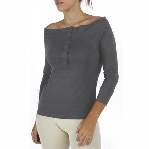 Halsausschnitt mit 3/4 Ärmel Bluse - Biologischer Pima Baumwolle - B.e Quality