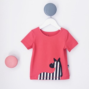 Baby T-Shirt mit Applikation Zebra - internaht