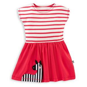 T-Shirt Kleid mit Zebra-Applikation für Mädchen  - internaht