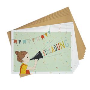 Einladungskarten-Set zum Kindergeburtstag Flüstertüte - TELL ME