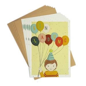 Einladungskarten-Set zum Kindergeburtstag Ballons - TELL ME
